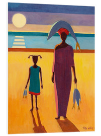 Foam board print  Woman with Fish - Tilly Willis