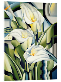 Acrylic print  Cubist lilies - Catherine Abel
