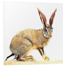 Foam board print  Hare - Mark Adlington