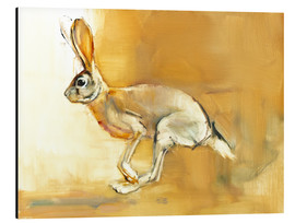 Aluminium print  Jumping Rabbit - Mark Adlington