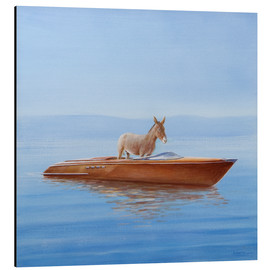 Aluminium print  Donkey in a boat - Lincoln Seligman