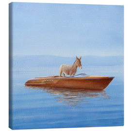 Canvas  Donkey in a boat - Lincoln Seligman