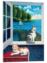 Acrylic print  Cats and Sea - Jerzy Marek