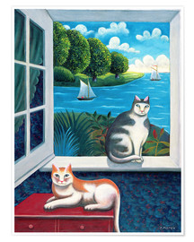 Premium poster Cats and Sea
