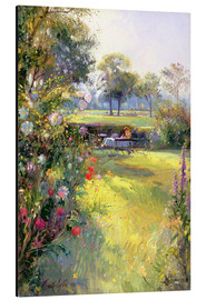 Aluminium print  Reading in the Garden - Timothy Easton