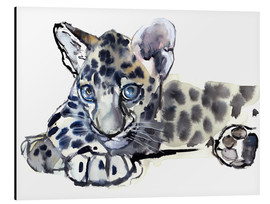 Aluminium print  Little Leopard - Mark Adlington