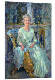Foam board print  Her Majesty the Queen, 1996 - Susan Ryder