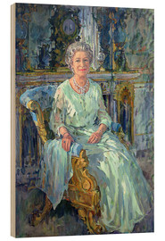 Wood print  Her Majesty the Queen, 1996 - Susan Ryder