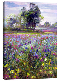 Canvas print  Flower field with tree - Timothy Easton