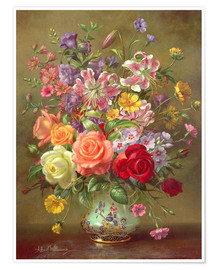 Premium poster  A Summer Floral Arrangement - Albert Williams