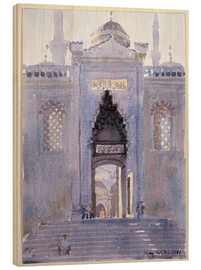 Wood print  Gateway to The Blue Mosque - Lucy Willis