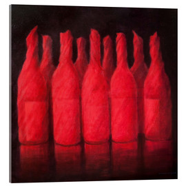 Acrylic glass  Red wrapped wine, 2012 - Lincoln Seligman