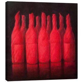 Canvas  Red wrapped wine, 2012 - Lincoln Seligman