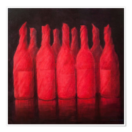 Poster Red wrapped wine, 2012