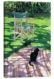 Canvas print  Black Cat and Dappling - Lucy Willis