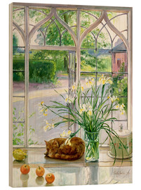 Timothy Easton - Sleeping cat in the window