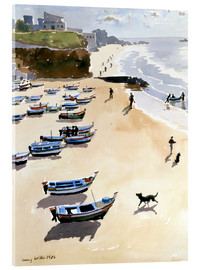 Acrylic print  Boats on the Beach - Lucy Willis