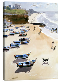 Canvas  Boats on the Beach - Lucy Willis