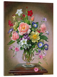 Acrylic print  Roses, Peonies and Freesias - Albert Williams