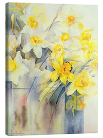 Canvas  Mixed Daffodils in a Tank - Karen Armitage