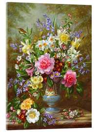 Acrylic print  Bluebells, daffodils, primroses and peonies - Albert Williams