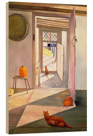 Wood print  Cats in the house - Timothy Easton