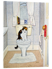 Acrylic glass  Cat on the Loo - Ditz