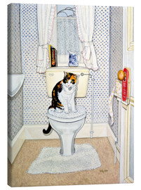 Canvas  Cat on the Loo - Ditz