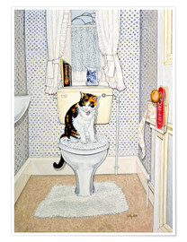 Poster Cat on the Loo