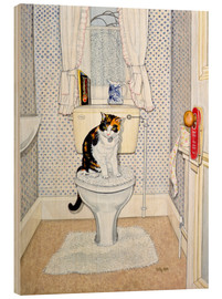 Wood  Cat on the Loo - Ditz