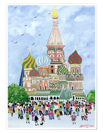 Premium poster St. Basil's Cathedral, Red Square, 1995