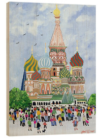 Wood print  St. Basil's Cathedral, Red Square, 1995 - Judy Joel