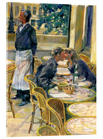 Acrylic print  Lovers in August, Paris - Rosemary Lowndes