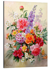 Aluminium print  A High Summer Bouquet - Albert Williams