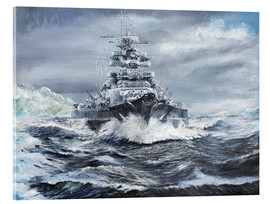 Acrylic print  Bismarck off the Greenland coast - Vincent Alexander Booth