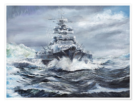 Premium poster  Bismarck off the Greenland coast - Vincent Alexander Booth