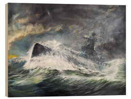 Wood print  Graf Spee enters the Indian Ocean 3rd November 1939 - Vincent Alexander Booth