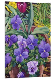 Foam board print  Flower pots with pansies, 2007 - Christopher Ryland