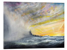 Acrylic print  Yamato Emerges from Pacific Typhoon - Vincent Alexander Booth