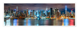 Premium poster New York City Skyline panoramic view