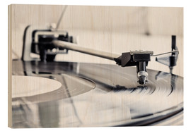 Wood print  turntable - Filtergrafia