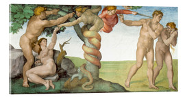 Acrylic print  Sistine Chapel: The Fall and the Expulsion from Paradise - Michelangelo