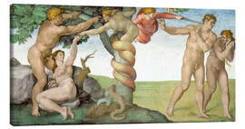 Canvas print  Sistine Chapel: The Fall and the Expulsion from Paradise - Michelangelo