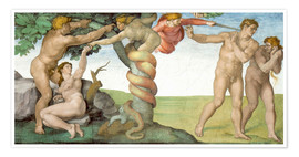 Poster Sistine Chapel Ceiling : The Fall of Man