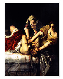 Premium poster Judith and Holofernes