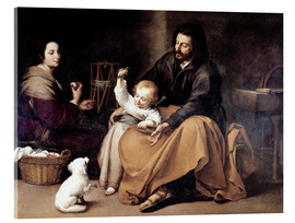 Acrylic glass  The Holy Family with the Little Bird - Bartolome Esteban Murillo