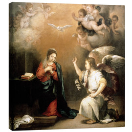 Canvas print  Annunciation to the Virgin - Bartolome Esteban Murillo