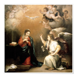 Poster  Annunciation to the Virgin - Bartolome Esteban Murillo