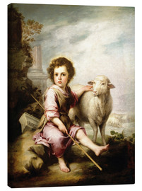 Canvas print  The Good Shepherd - Bartolome Esteban Murillo