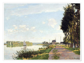 Premium poster  The walk at Argenteuil - Claude Monet